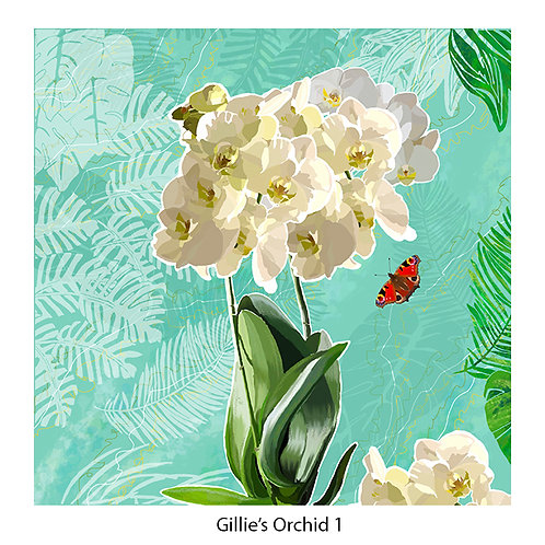 Gillie's Orchid Upholstery Panels
