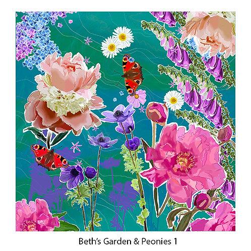 Beth's Garden & Peonies Upholstery Panels