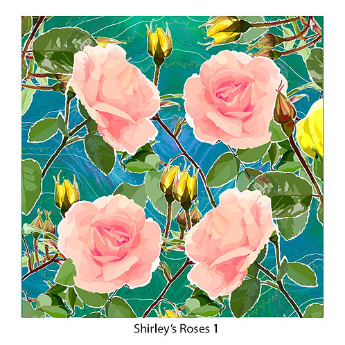 Shirley's Roses Upholstery Panels