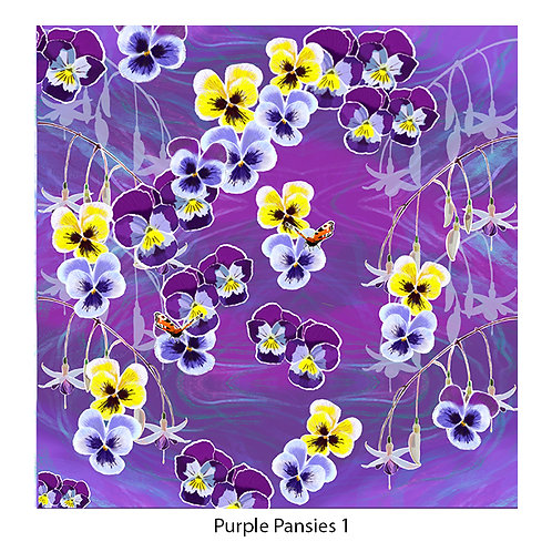 Pansies Upholstery Panels