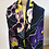 Thumbnail: Snowdrops and Pansies 100% Wool Twill Navy Scarf