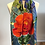 Thumbnail: Shirley's Garden Roses 100% Wool Twill Turquoise Scarf