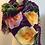 Thumbnail: Shirley's Garden Mixed Roses 100% Wool Twill Magenta Scarf