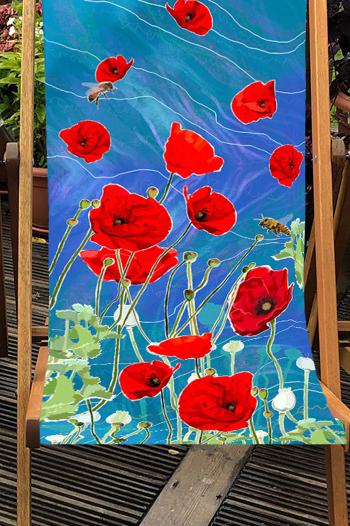 St Monan's Deckchair 3- 100% Polyester Canvas Sling