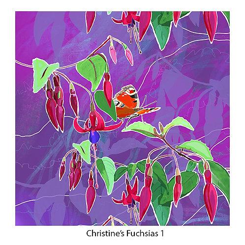 Christine's Fuchsias Upholstery Panels