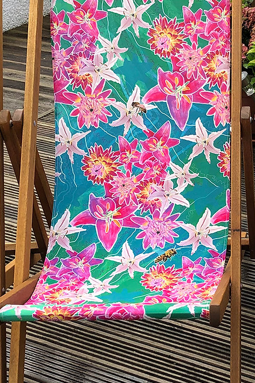 Lena's Lilies Deckchair 3- 100% Polyester Canvas Sling