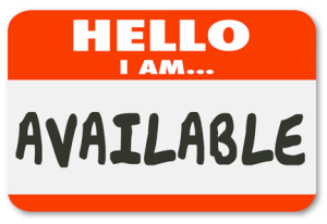 I'm available copy