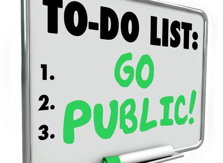 Start of Holiday Season To-Do List: Go Public!