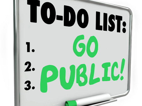 Start of Holiday Season To-Do List: Go Public!