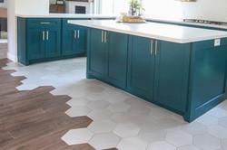 Hexagon Tiles Meet Wood-Look Tile