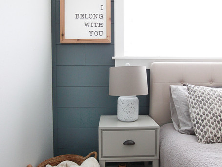 My Faux Shiplap Wall and How I Feel About Decorating the Primary Bedroom