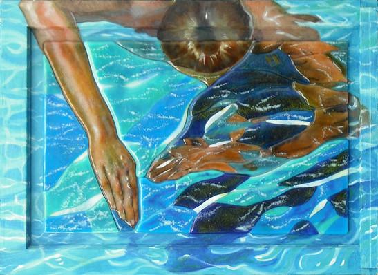 Hand Entering Water