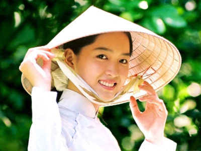 Vietnamese Traditional Smile Girl
