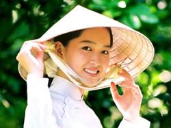 Vietnamese Traditional Smile Girl