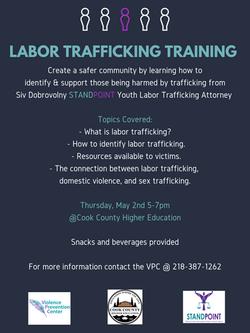 Labor Trafficking Training Poster (Commu