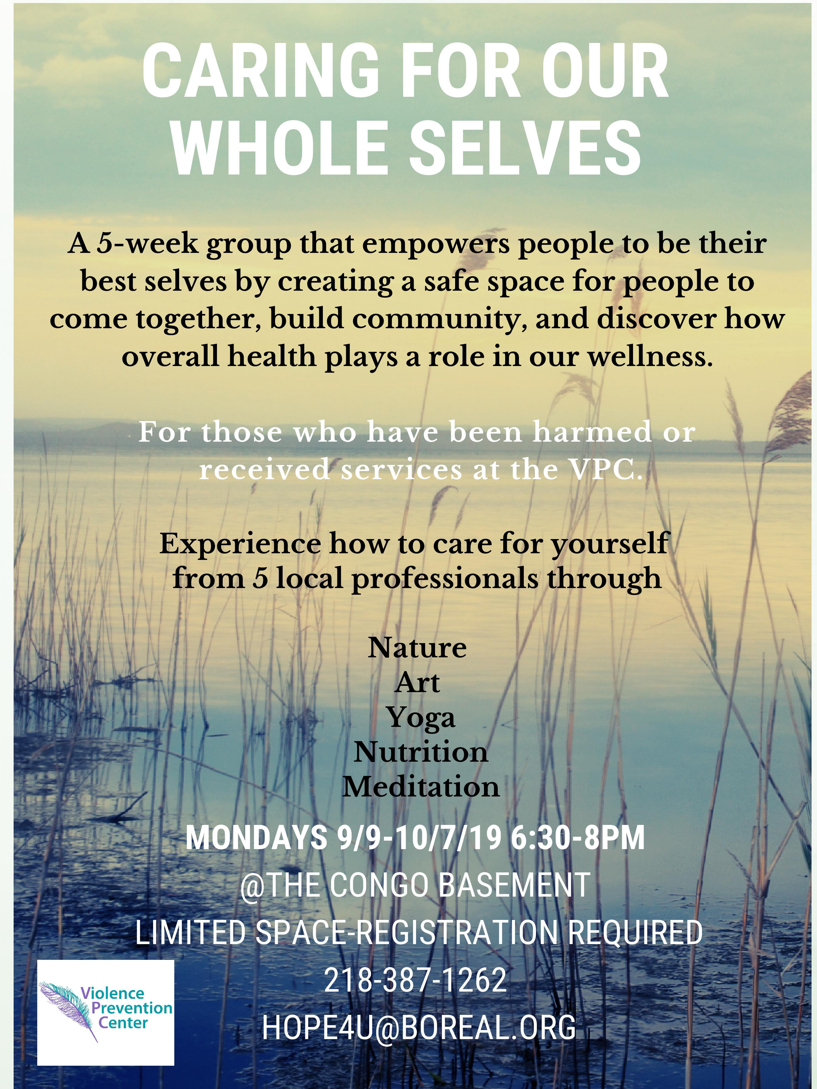Caring for our whole selves Poster