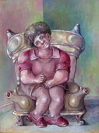 Niña sentada. 2000