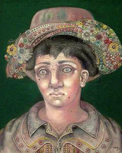 Mujer con sombrero. 1994