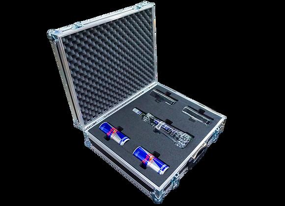 GT-Case Funkoffer Spirituosenkoffer für Puschkin + 2 Gläser + 2 Dosen Energy
