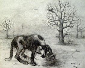 Perro en la nieve. 2012