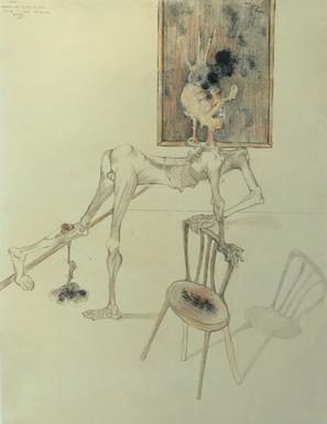 Estudio de hombre con silla. 1993