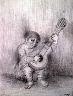 Niño con guitarra. 1999