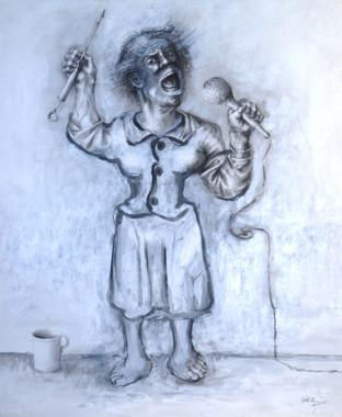 Mujer cantando. 1998