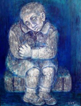 Niño sentado. 2002
