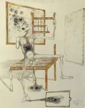 Estudio Hombre sentado.1993
