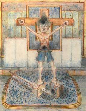 Niño crucificado. 1993