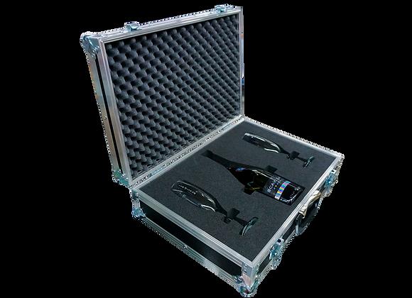 GT-Case Funkoffer Spirituosenkoffer für Scavi & Ray + 2 Gläser