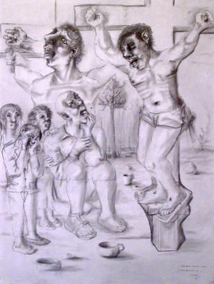Estudio para crucifixión. 2000