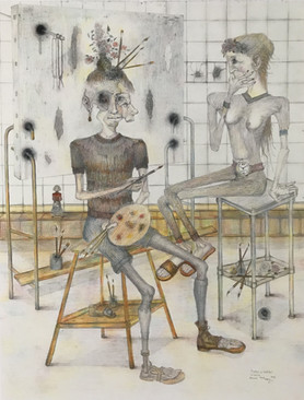 Pintor y modelo. 1993
