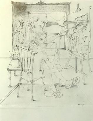 Pintor con ayudante. 1993