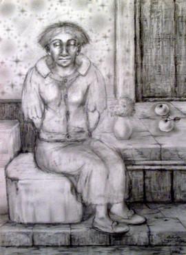 Mujer sentada. 2000