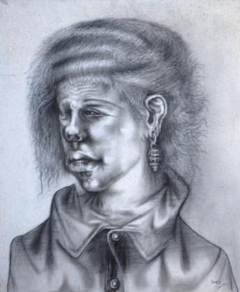 Mujer con pendientes. 1998