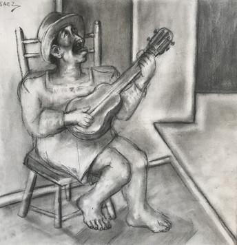 Mujer con guitarra. 1999