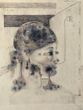 Estudio cabeza de mujer. 1993