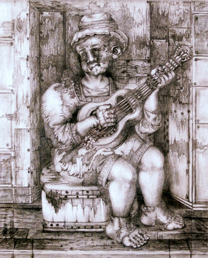 Mujer con guitarra. 2004