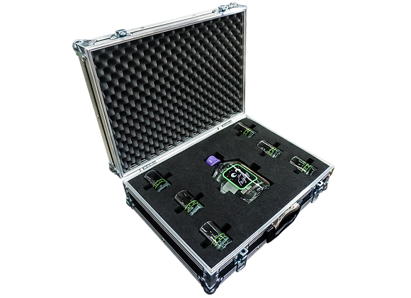 GT-Case Funkoffer Spirituosenkoffer für kleiner Feigling + 6 Gläser