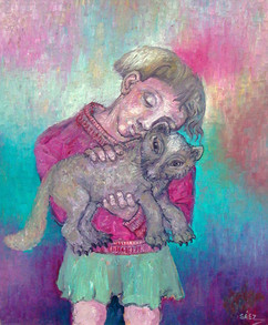 Niña con gato. 1994