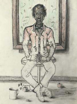 Hombre sentado. 2003