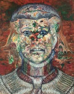 Mujer con corbata. 1977