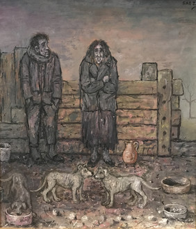 Pareja con perros. 2013