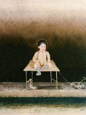 Niño con carrito. 1972