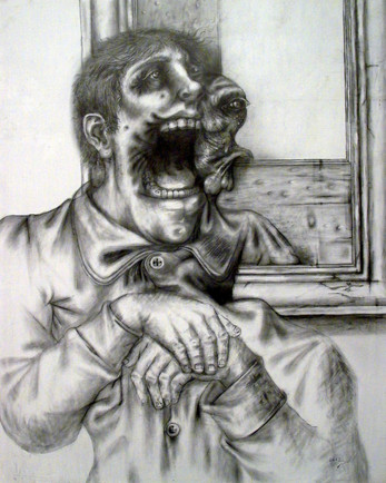 Personaje gritando. 1998