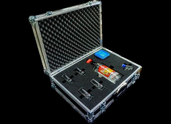GT-Case Funkoffer Spirituosenkoffer für Tequila + 4 Gläser + Salzstreuer + Box