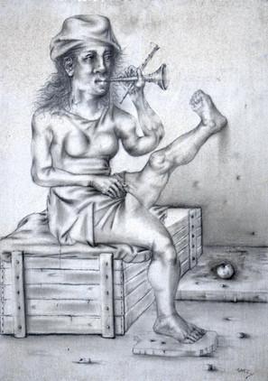 Mujer con trompeta. 1996