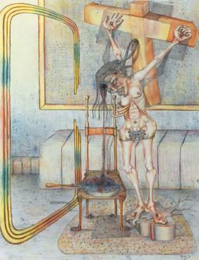 Mujer crucificada. 1993
