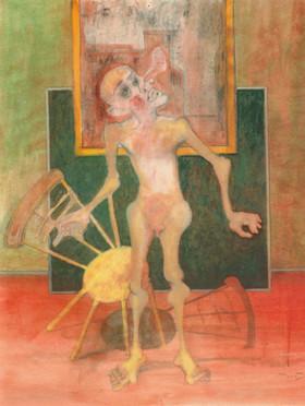 Hombre con silla. 1993